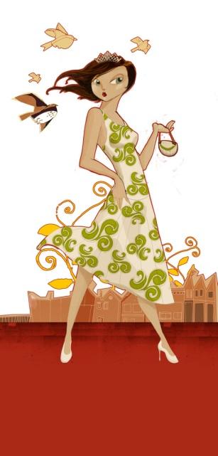 Logomarca Salve a Rainha, por Lucas França.